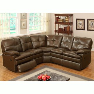 Clarington Brown Italian Leather Motorized Reclining ...