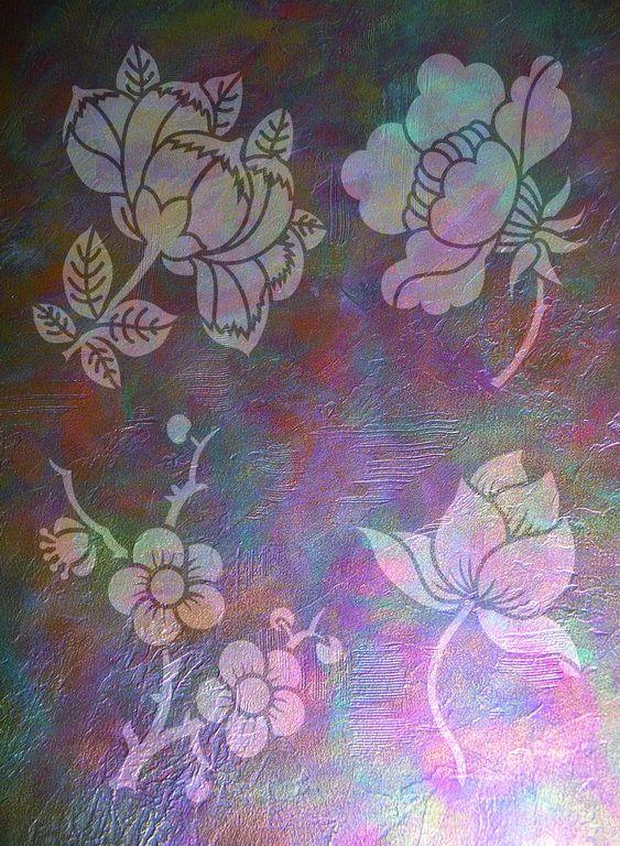 Wandschablonen Blütenzauber - Schablono