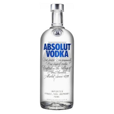 Absolut Vodka 750ml Bottle Vodka Absolut Vodka Absolut