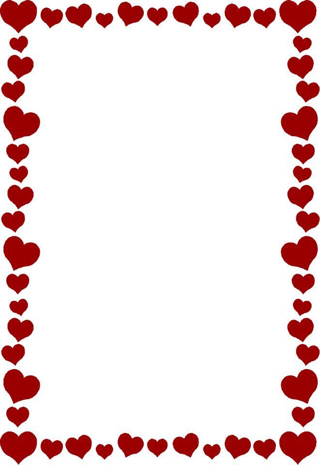 heart border printables pinterest clip art scrapbooks and rh pinterest co uk valentine's day borders clip art Valentine Heart Clip Art