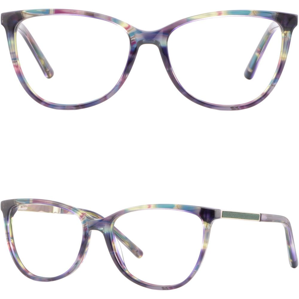 a6becbfed60 Square Womens Light Acetate Frames Spring Hinges Prescription Eyeglasses  Purple
