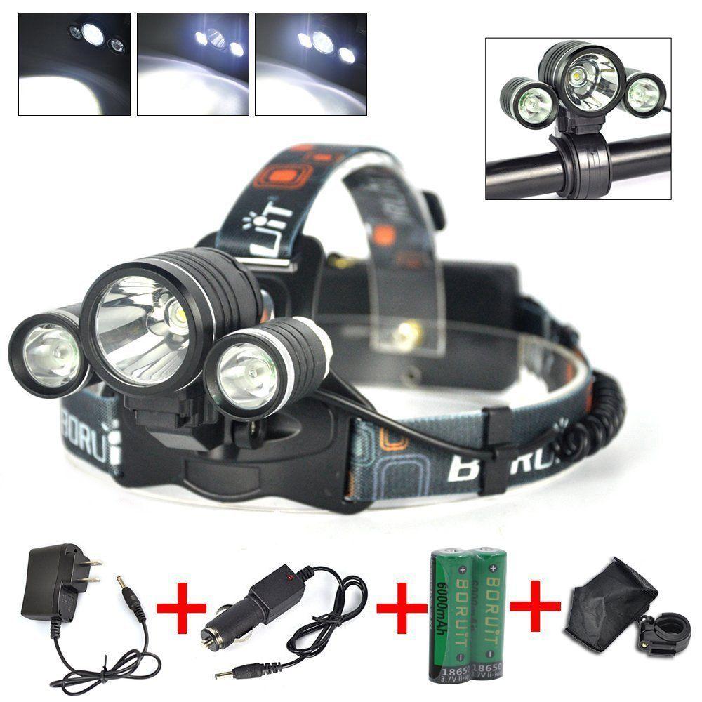 Camping Hunting Light Fishing White Lamp Zoomable Headlight Flashlight LED
