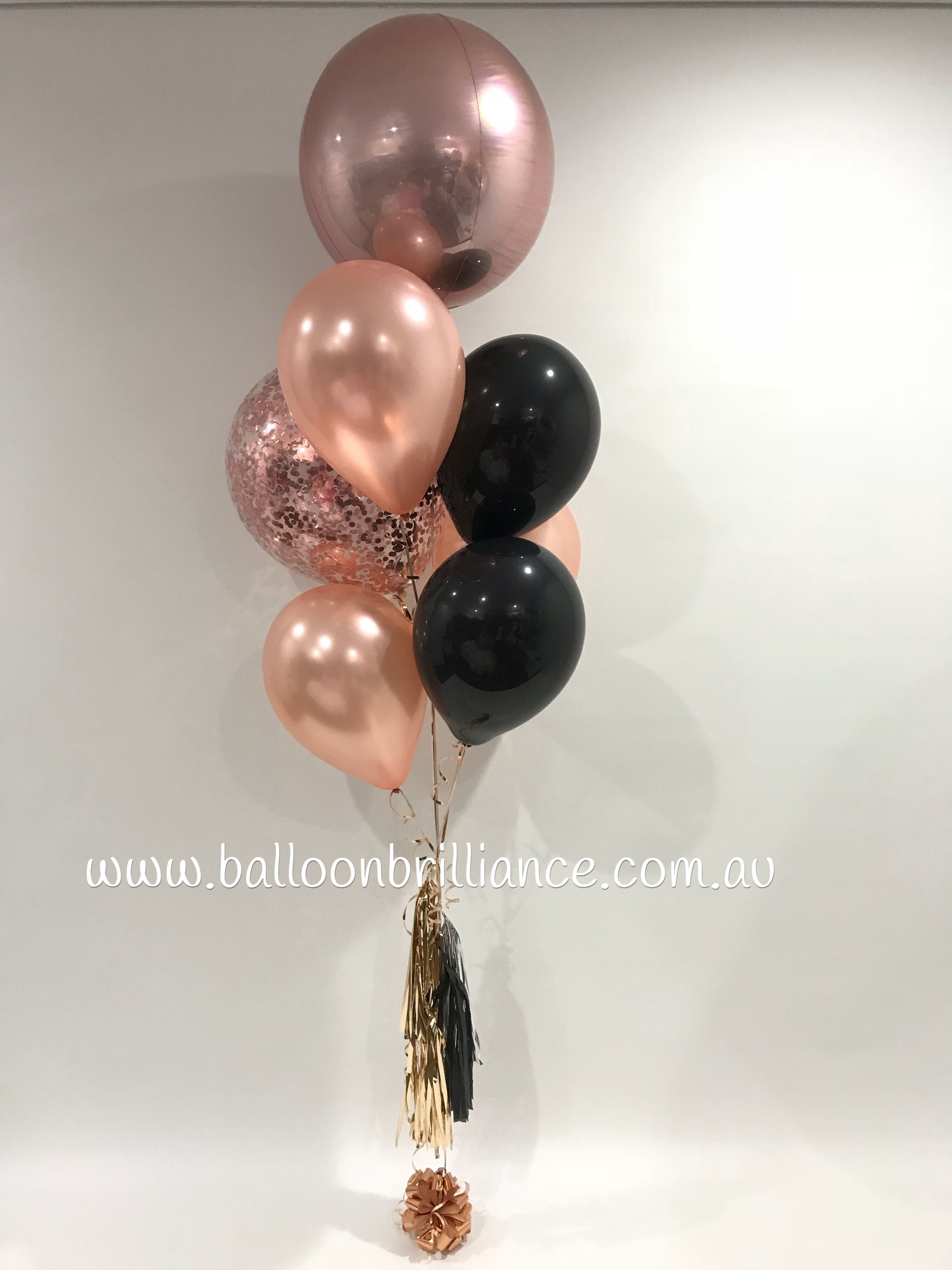 A Touch Of Black With Rose Gold Rosegoldballoons