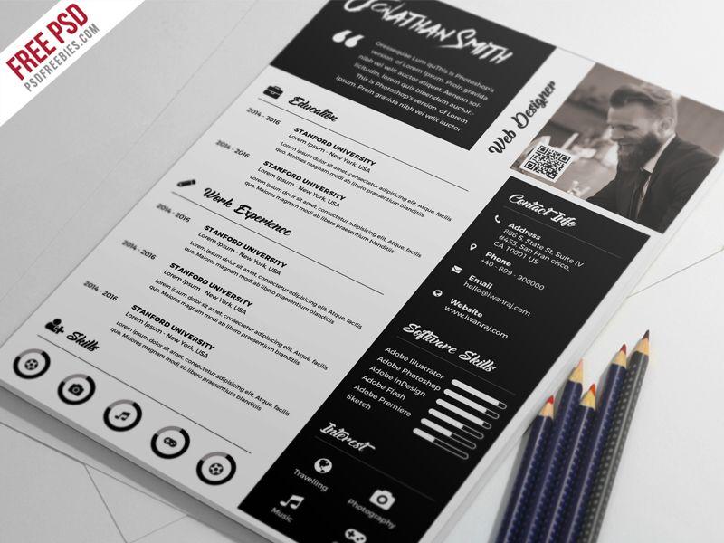 Premium Resume Template Free Psd  Resume Template Free Template