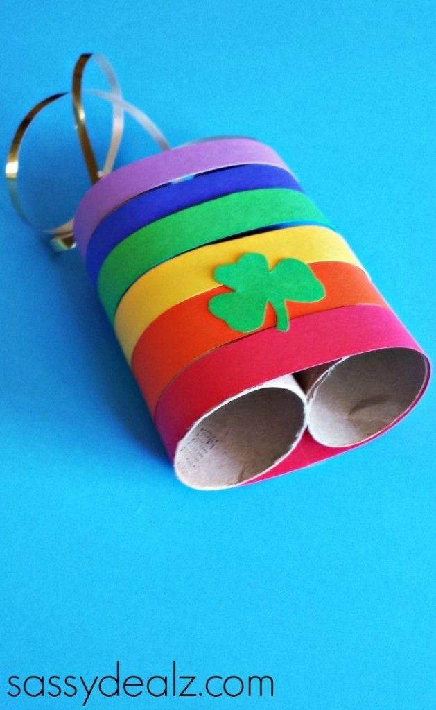 Leprechaun Binoculars St Patricks Day Crafts For Kids Binocular