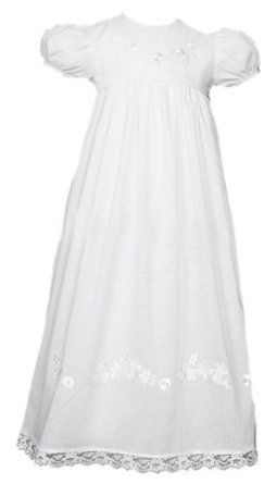 c0152bf4930 Laura Ashley Christening Gown with Flowers for Baby Girls White 3 months (8- 12 lbs.) Laura Ashley.  86.00