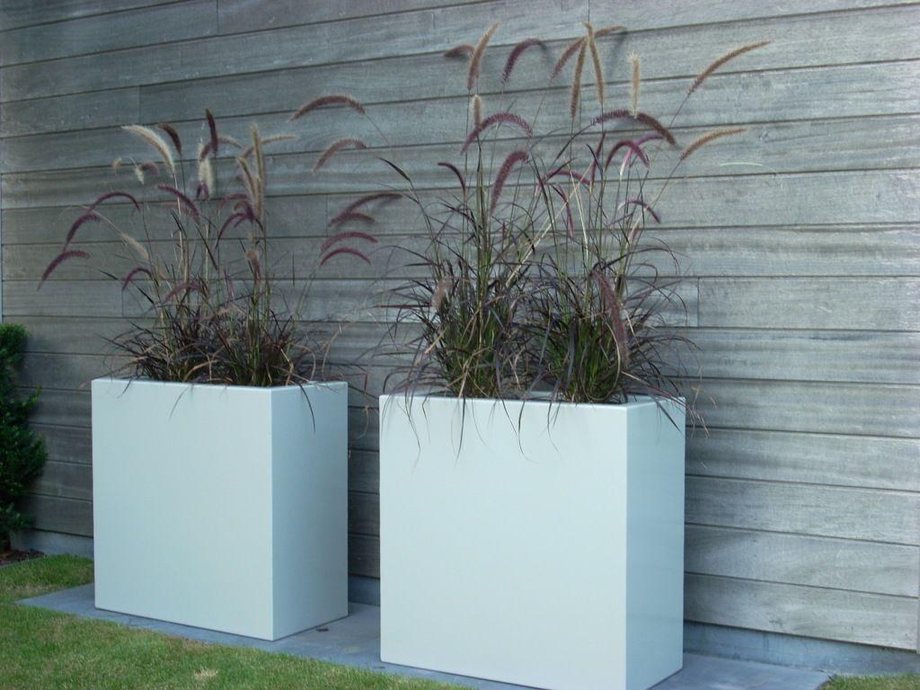 Aluminium bloembakken boombakken haagbakken plantenbakken verkrijgbaar op maat en in - Terras rand idee ...