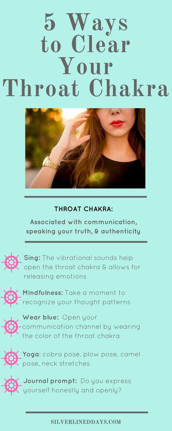 5 Ways to Clear Your Throat Chakra   Pinterest   Chakra cleanse ...