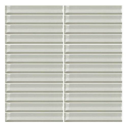 daltile color wave glass cw02 feather white 1 x 6 straight joint dal tile - Daltile Subway Tile