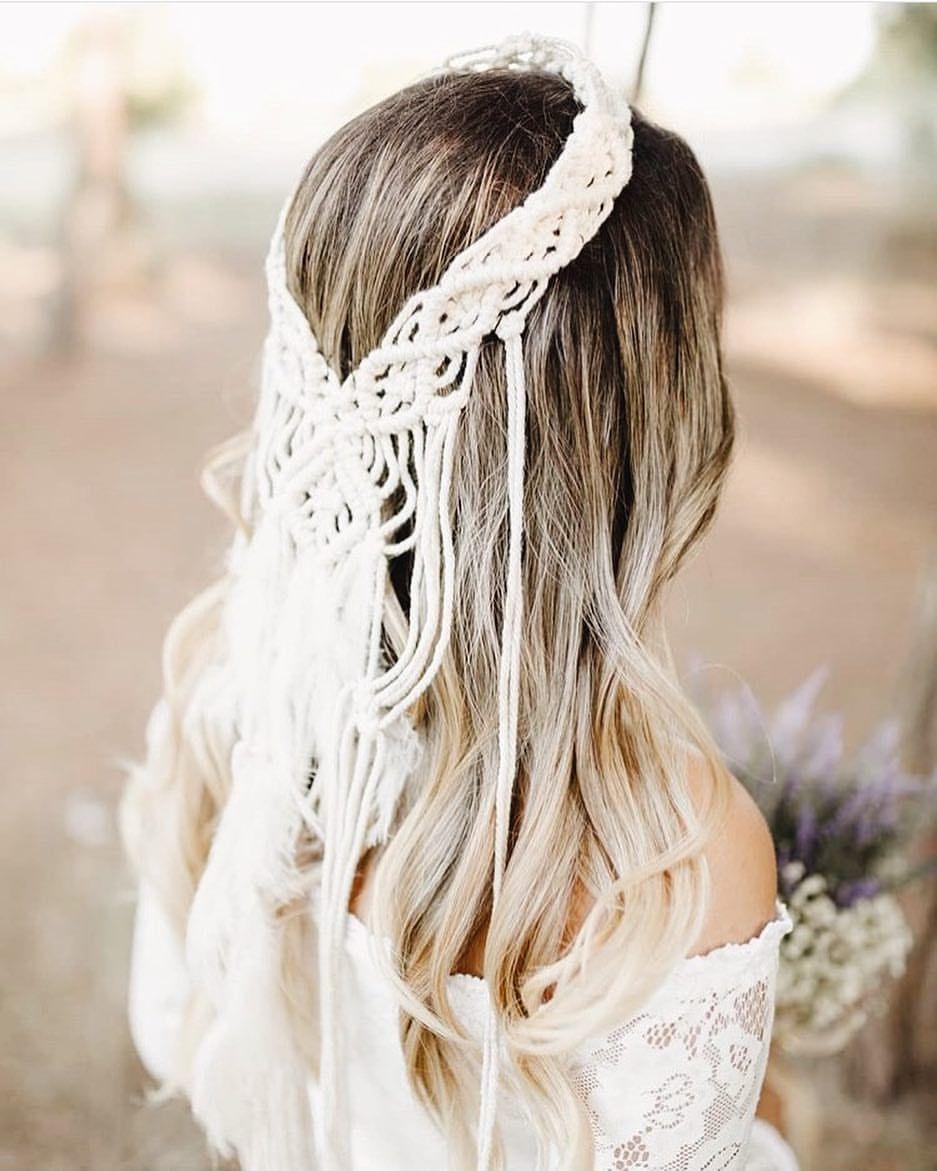 1751bcbbb3de macramehairwrap 🕊 . #macrame #makrome #bride #wedding #boho ...