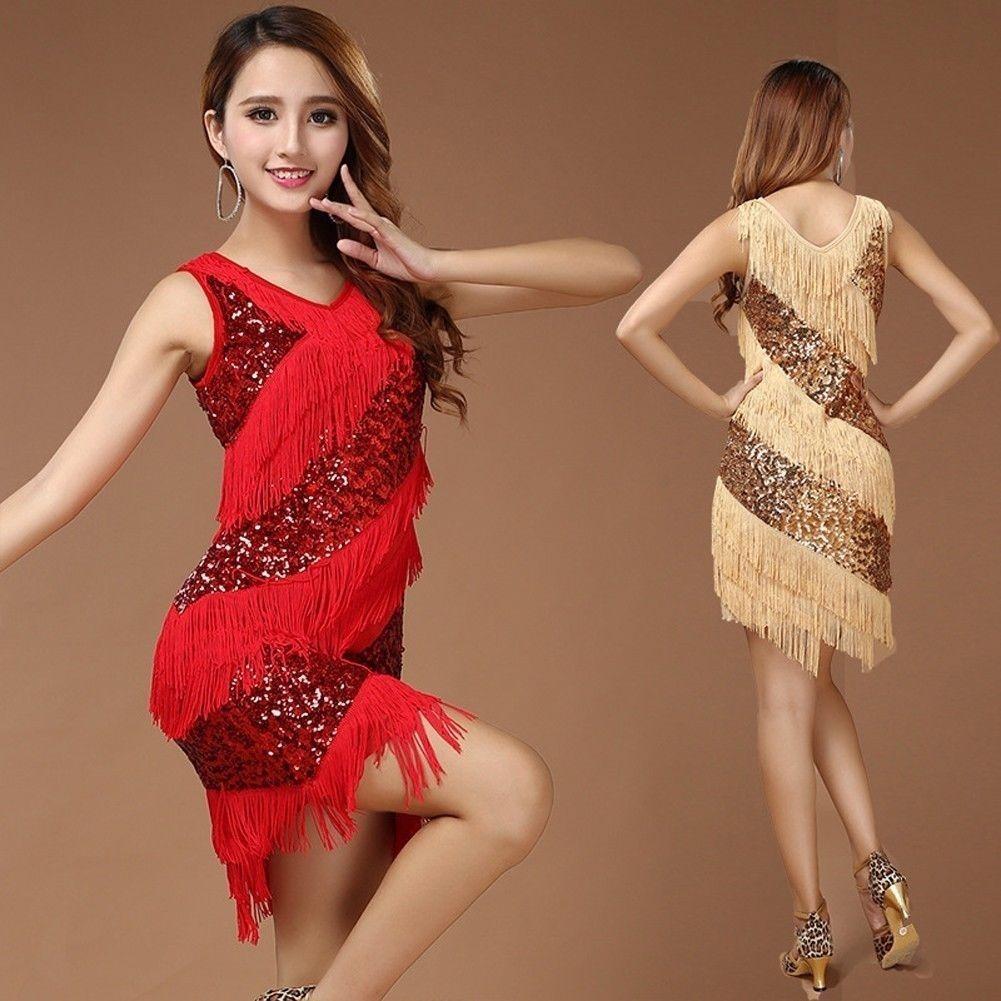 1dc64f194 $13.32 AUD - Women Latin Dance Costume Samba Tango Cha Cha Tassel Sequins  Carnival Dress Up #ebay #Fashion