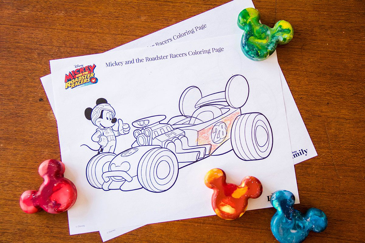 Mickey And The Roadster Racers Coloring Page Mickey Birthday
