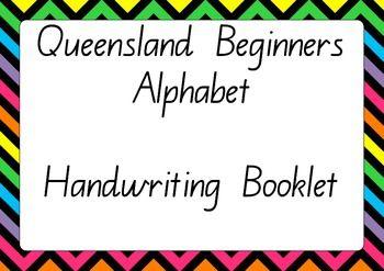 queensland beginners alphabet handwriting pack kindergarten resources handwriting alphabet. Black Bedroom Furniture Sets. Home Design Ideas