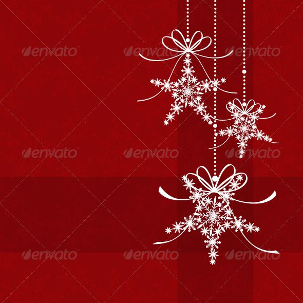 Red christmas snowflake star shape greeting card christmas red christmas snowflake star shape greeting card m4hsunfo