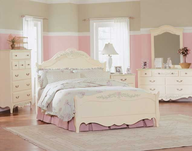 Best Shabby Chic Bedroom Ideas : Cute Pink White Shabby Chic Bedroom ...