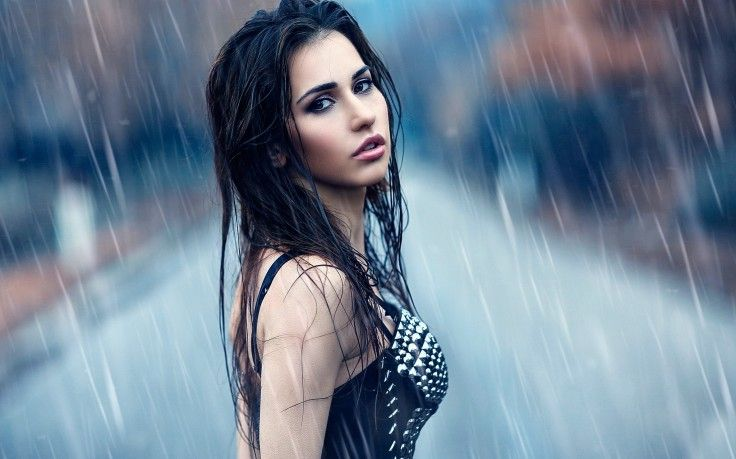 Women Outdoors Wet Model Women Rain Hd Wallpaper Desktop Background Rainy Photoshoot Rain Photo Rain Photography