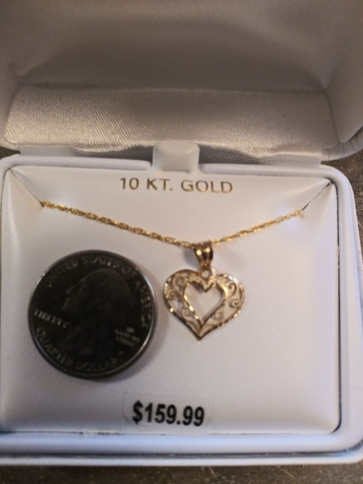 New 10kt Gold Heart Pendant With 14kt Gold Filled Chain Retail Price Is 159 Plus Tax Heart Pendant Gold 10kt Gold Gold Filled Chain