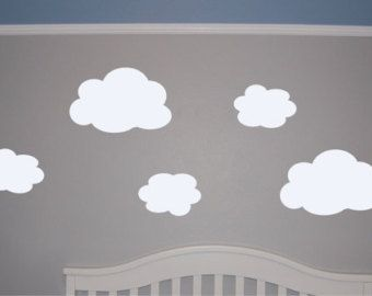 Set Of Clouds Wall Decal Cloud Wall Decal By Homesweetwalls - Nursery wall decals clouds