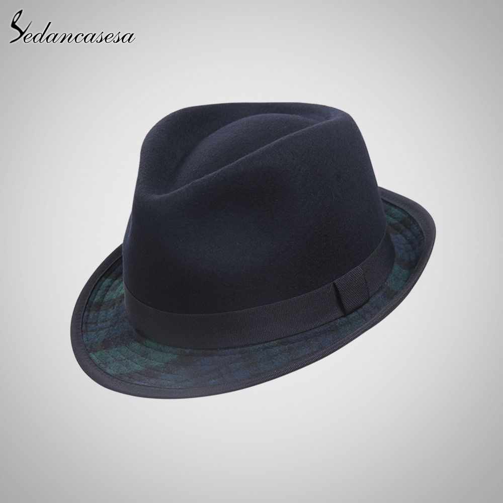 c8f2e24df5361 Fedora Hat Wool Felt Hats for Men Australian Wool Trilby Hat with Contrast  Color Style Men Fedora Hat Do you want it  shop  beauty  Woman s fashion ...