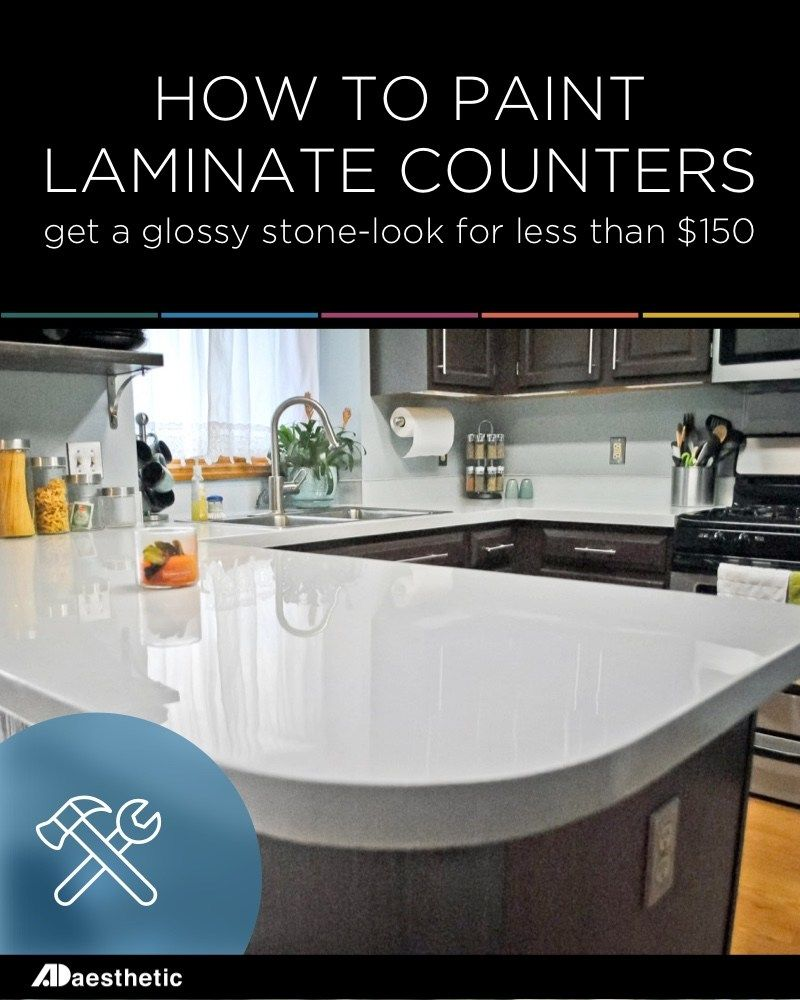 Diy Glossy Painted Counters Painting Laminate Countertops Diy