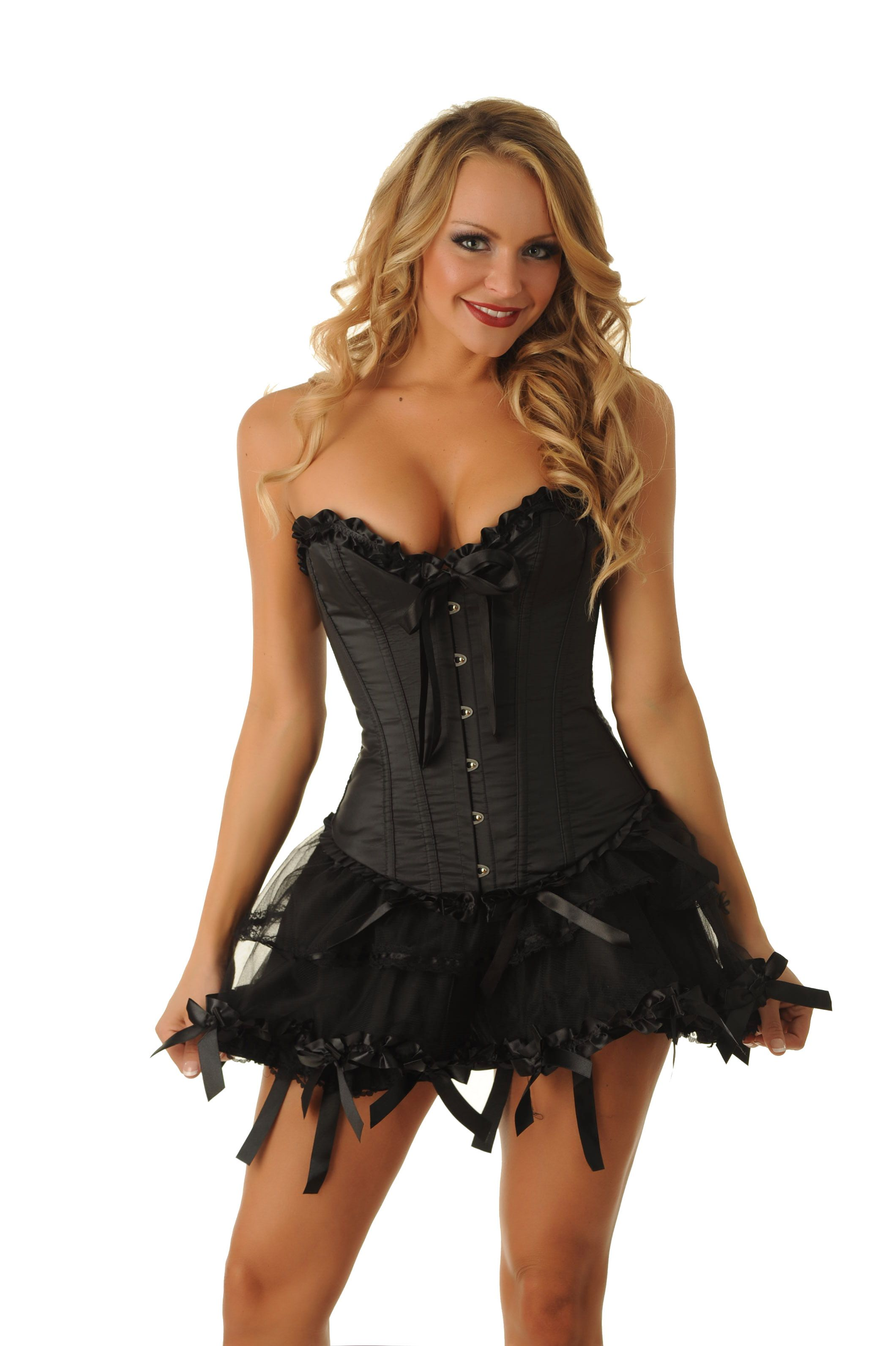 Ruffles & Bows Corset & Skirt Set | Velvet Kitten only at Lingerie ...