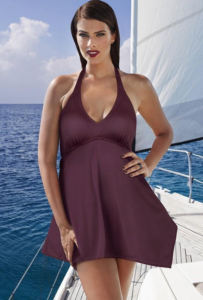 a00387cf954  SwimsuitsForAll -  Tropiculture Vigneto Handkerchief Swimdress -  AdoreWe.com