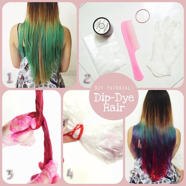 Diy How To Create Dip Dye Hair At Home Dip Dye Hair Dyed Hair Hair