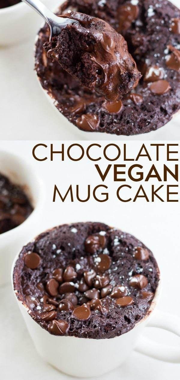 Der BESTE Schokoladen Vegan Becher Kuchen! Super fudgy, feucht und leicht zu mac… – Vegane Rezepte