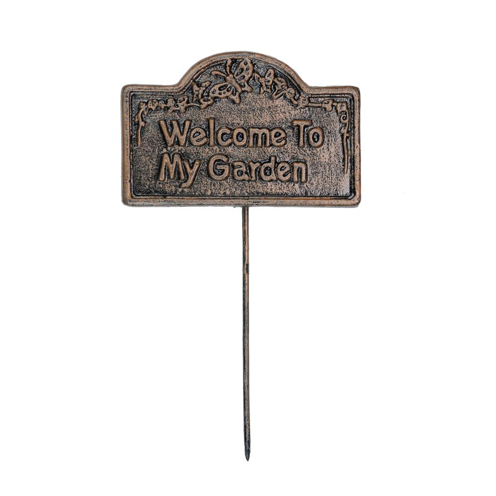 Oakland Living Garden Marker Welcome To My Garden Sign Garden Markers Garden Signs Garden Statues