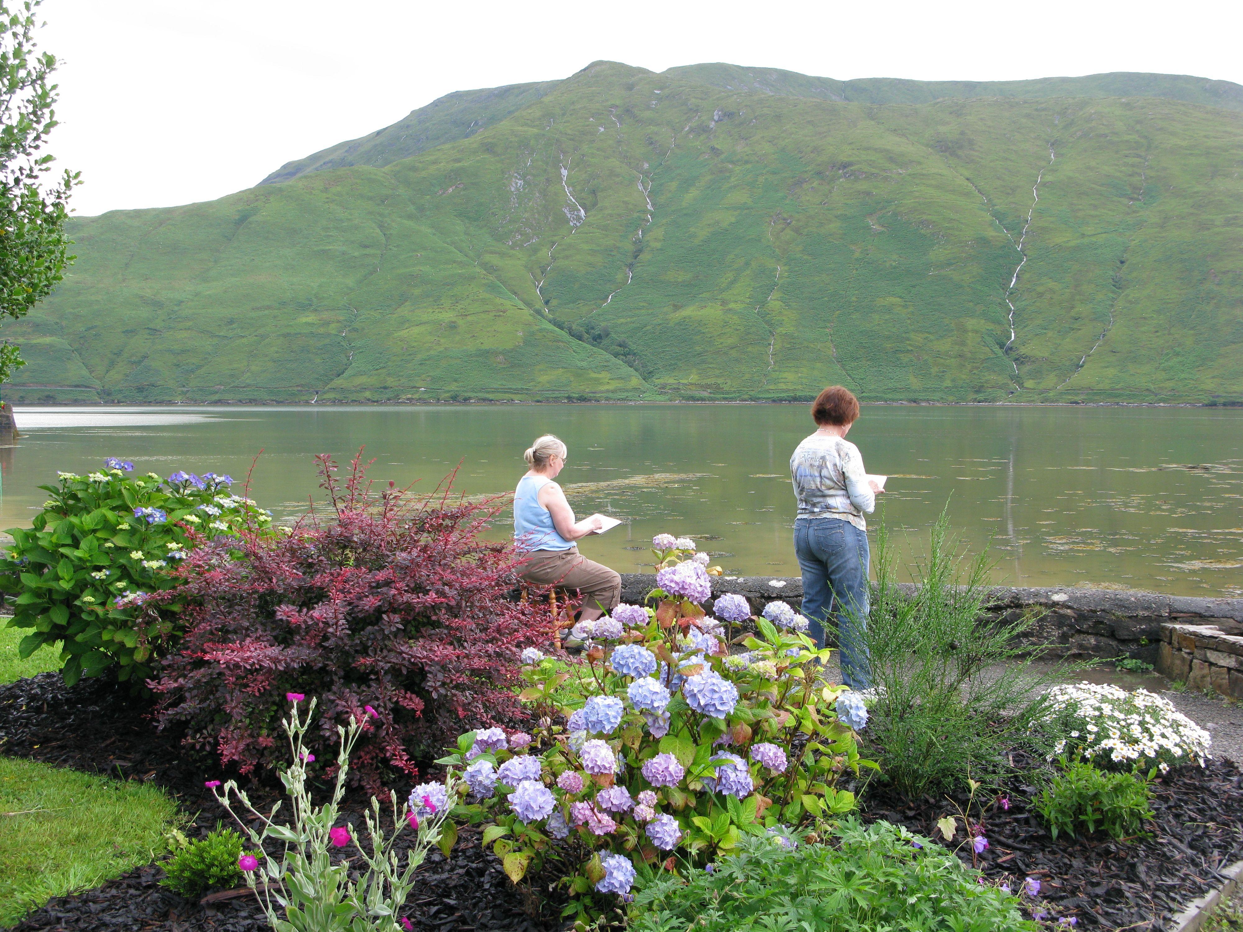 Nina Weiss Irish Landscape Workshop First day of Workshop on