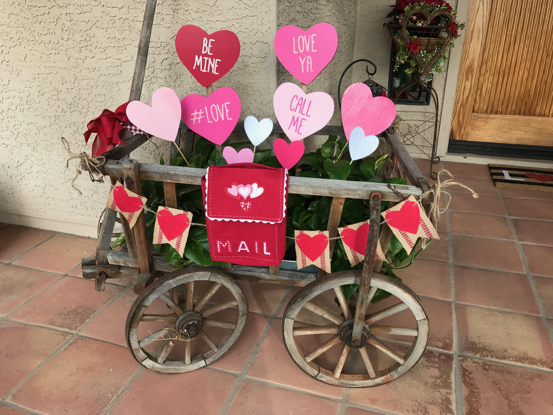 Valentine Goat Wagon Valentines Party Decor Valentine Decorations Valentines Day Decorations
