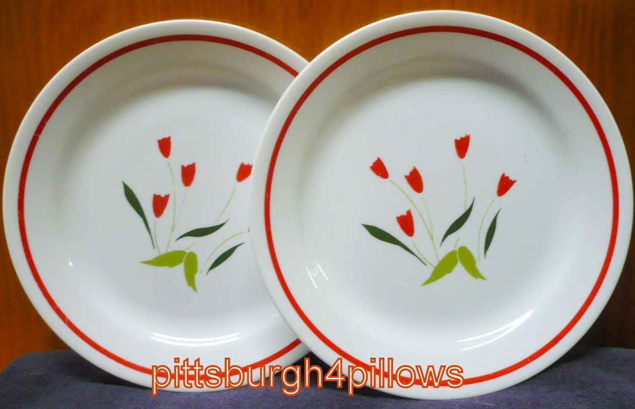 2 - Corelle - Casey's Flowers - Salad Plates -7 1/8 - HTF - Price Is For All - Very Slight Wear On Flowers - No Chips or Cracks by pittsburgh4pillows on Etsy