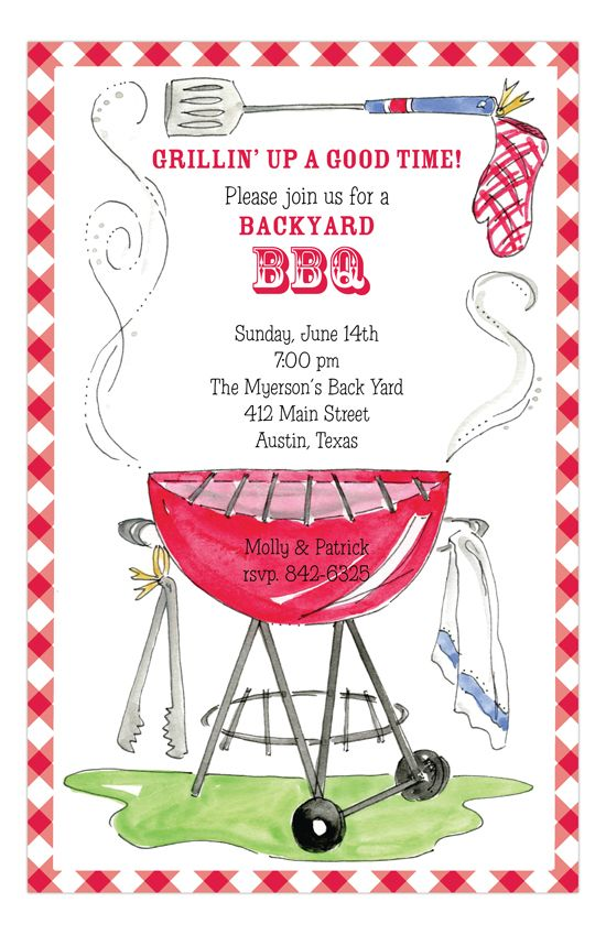 On The Grill Invitation Party Invitations Pinterest Grilling