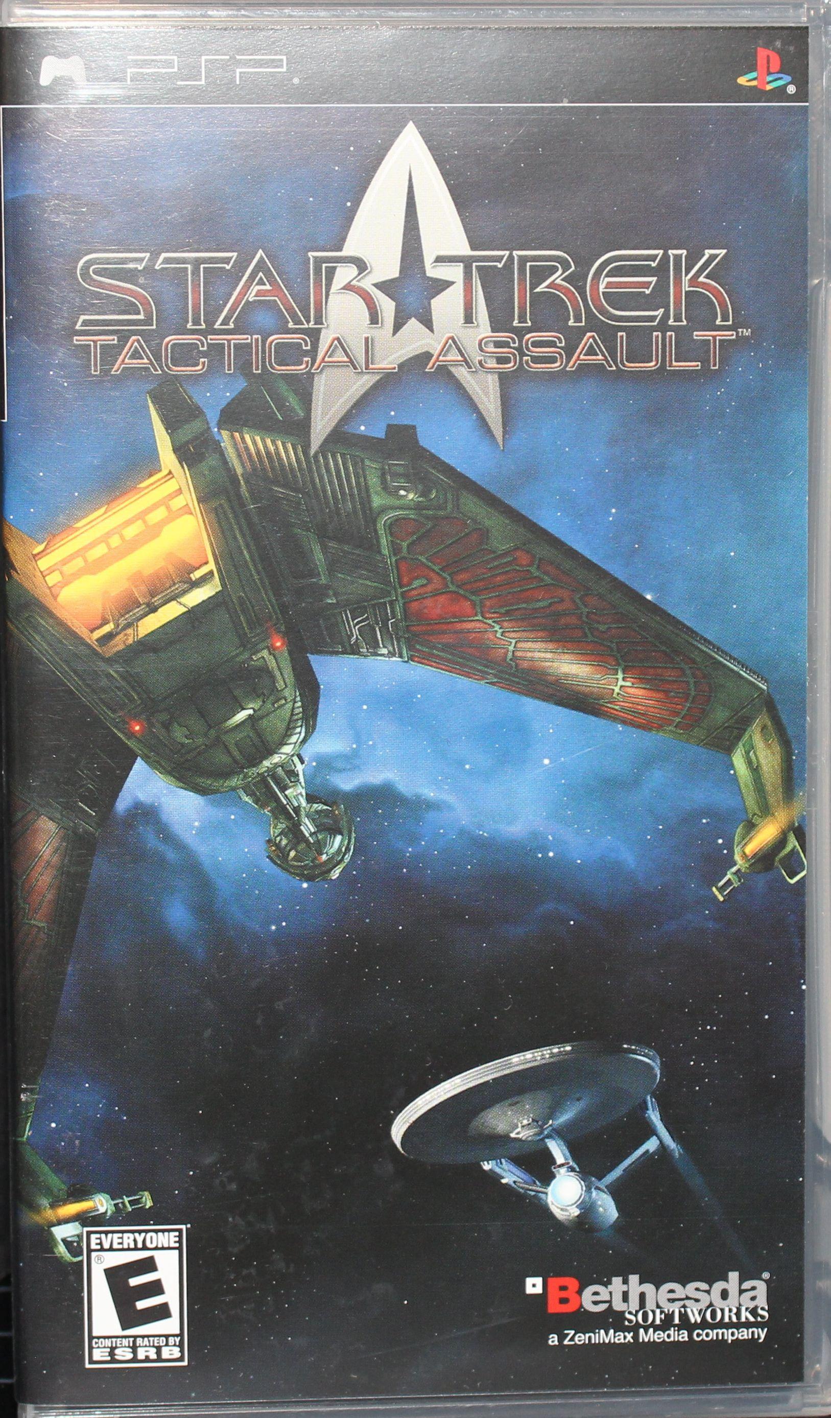 Star Trek Tactical Assault Sony Psp Umd Great Cond W Box Contstitution Class Star Trek Tactical Psp