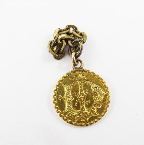 Antique 19th Century US Gold 1 Dollar Liberty Ornate Engraved Love Token | eBay