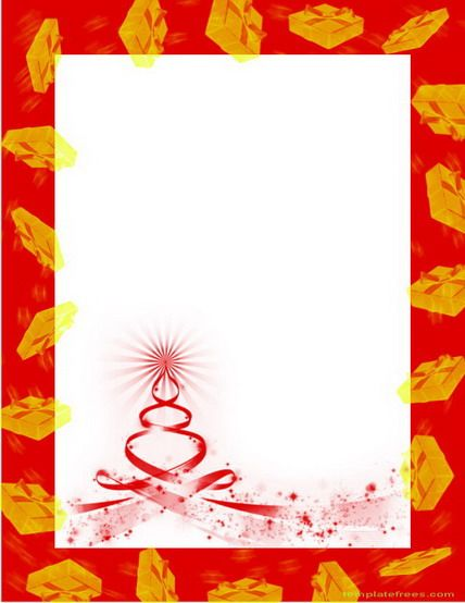 Free Christmas Borders Design to Print for Letter and Card Things