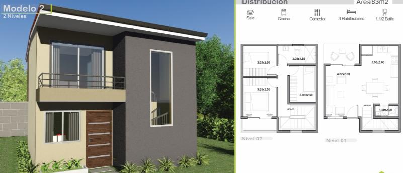 Dise os de casas de dos plantas modernas 801 345 for Disenos de casas de dos plantas