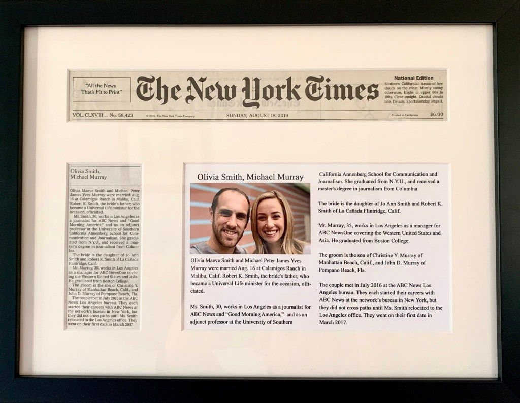How To Get A Wedding Announcement In The New York Times Wedding Announcements New York Times Announcement