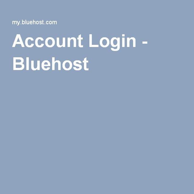 Account Login - Bluehost