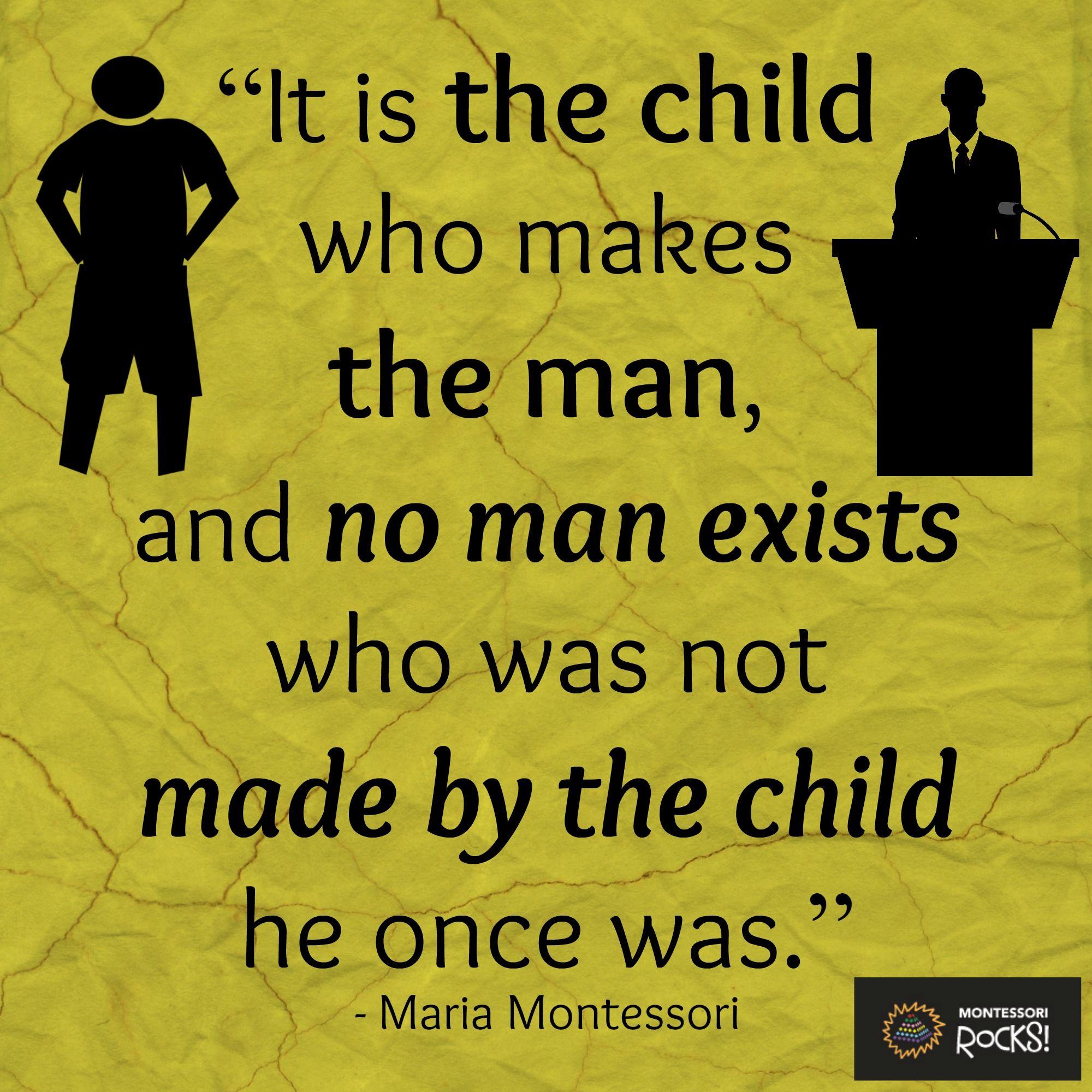 Early Relationship Quotes: We Love Maria Montessori Quotes! #MontessoriRocks
