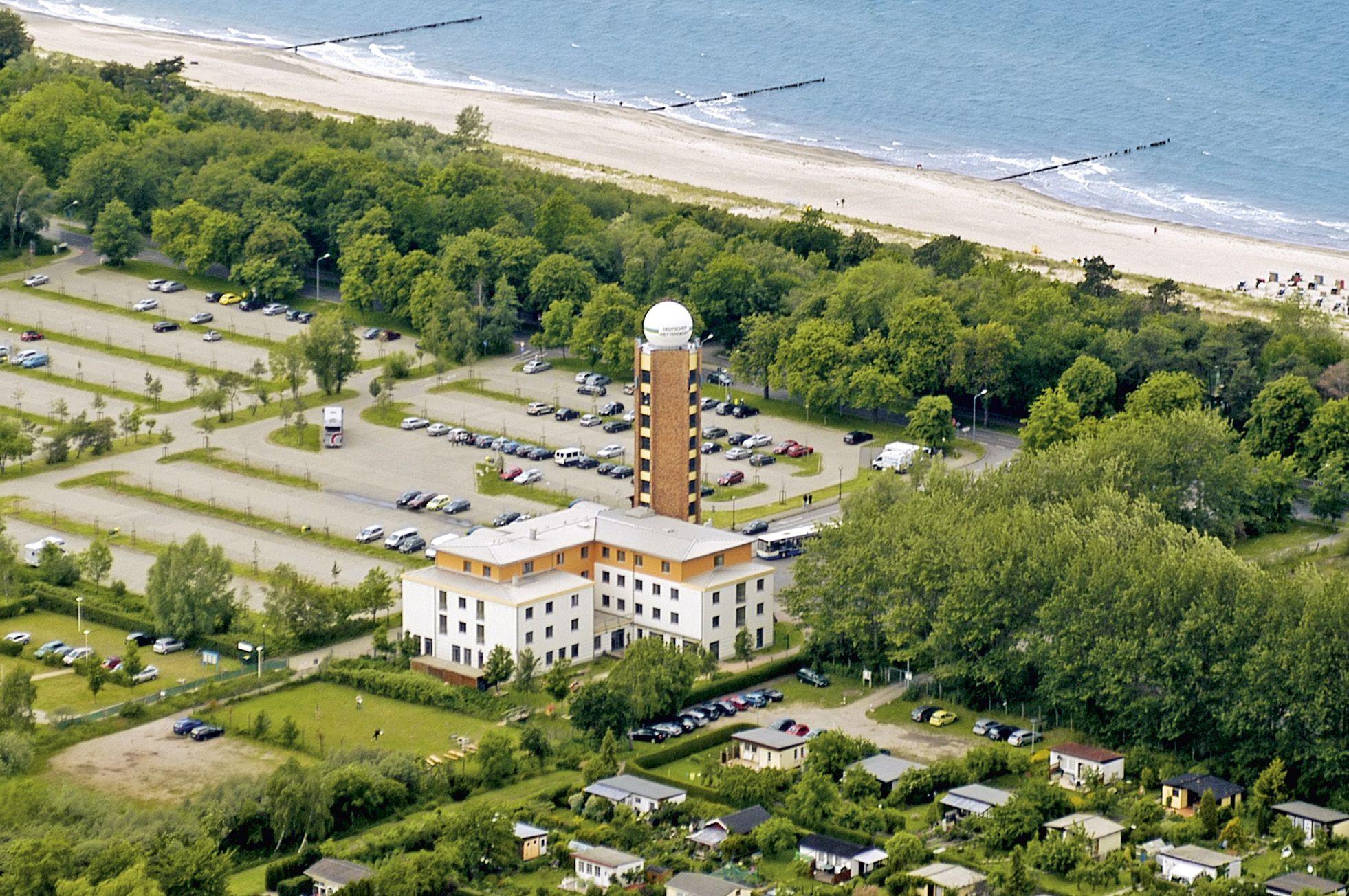 Jugendherberge Rostock Warnemünde aus der Luft
