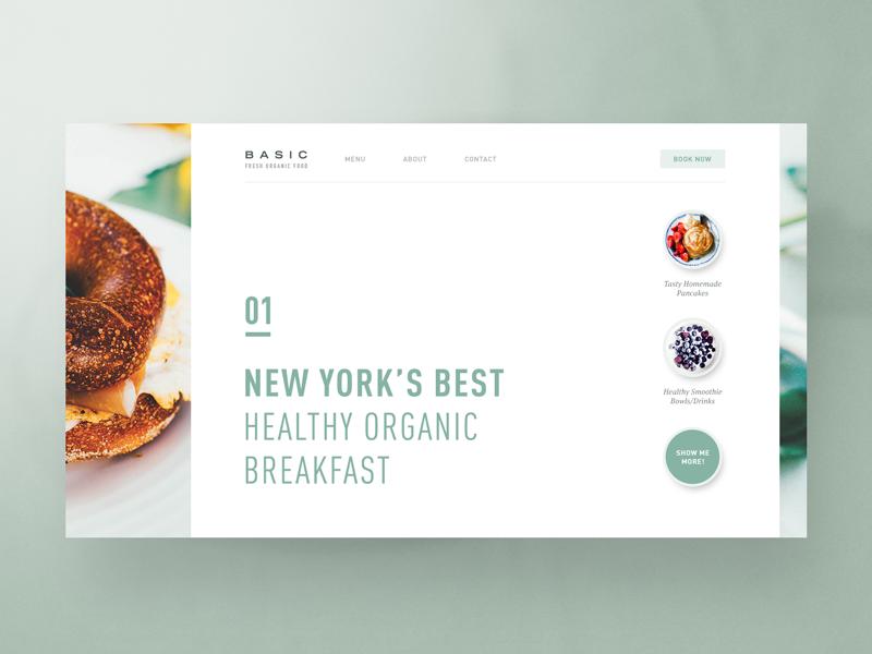 Basic Fresh Organic Food Organic Recipes Web Design Website Branding