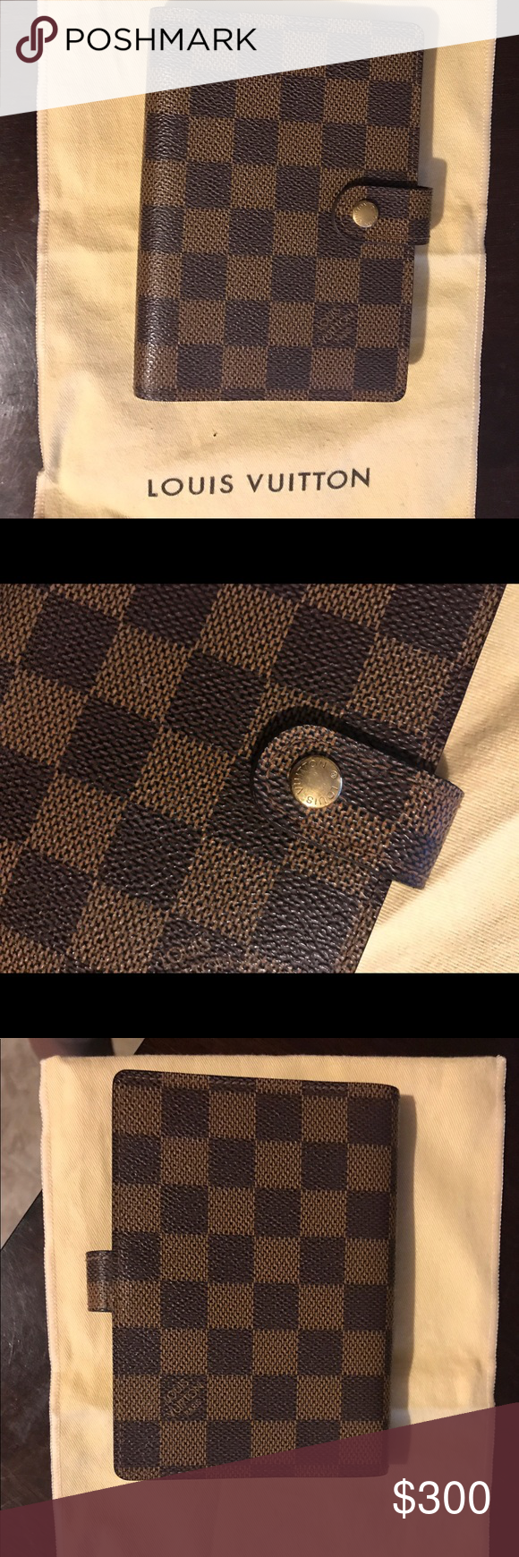 Louis Vuitton Pm Agenda Preloved Pm Agenda In Good Condition Only Used It A Few Times I Need Something A Little Lar Louis Vuitton Bags Louis Vuitton Damier