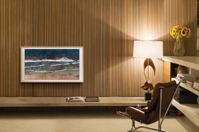 Samsung Frame Tv Now Looks Even Better In Art Mode Framed Tv Living Room Tv Interiors Addict