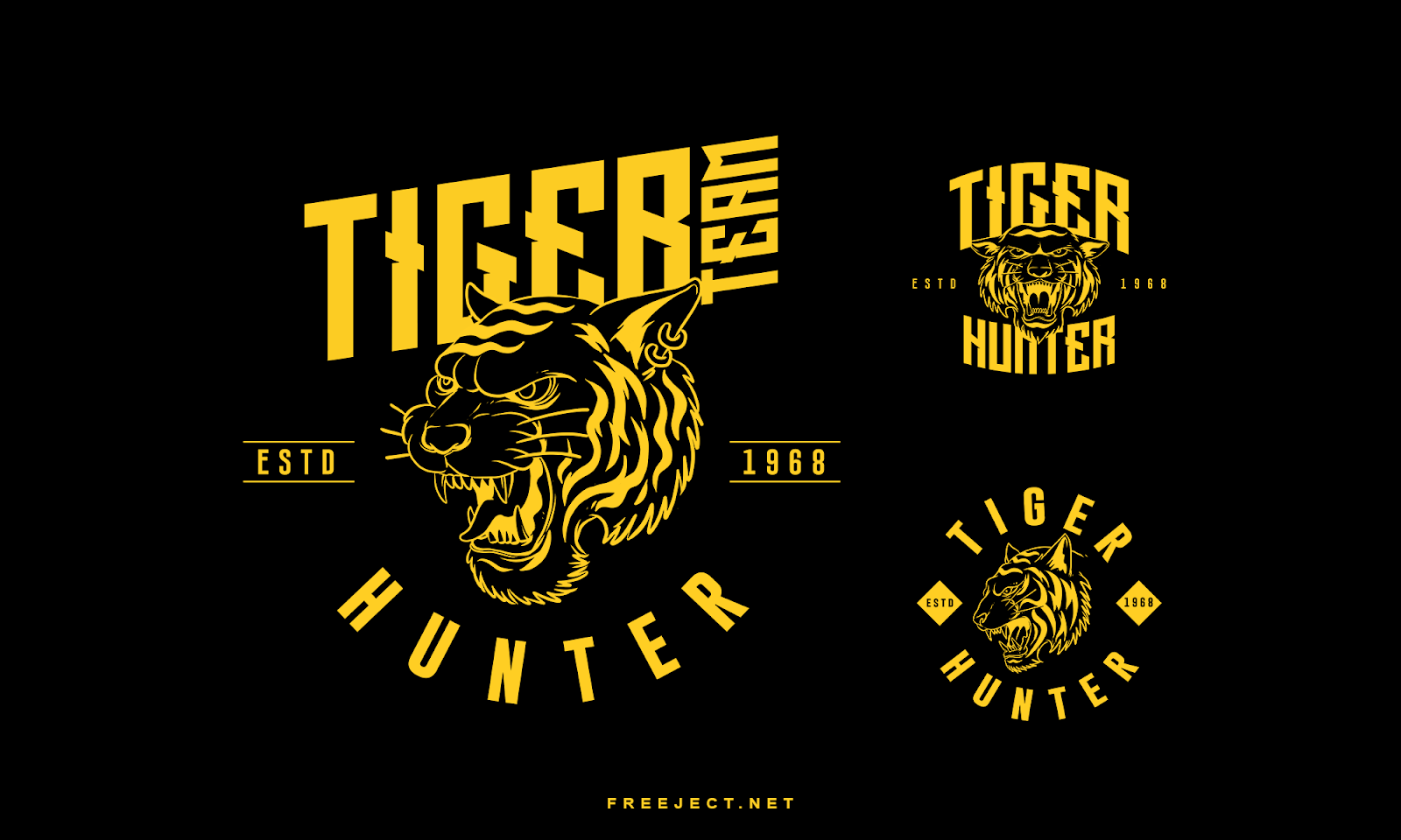 Free Download Tiger Badge Logo Template VOL 1