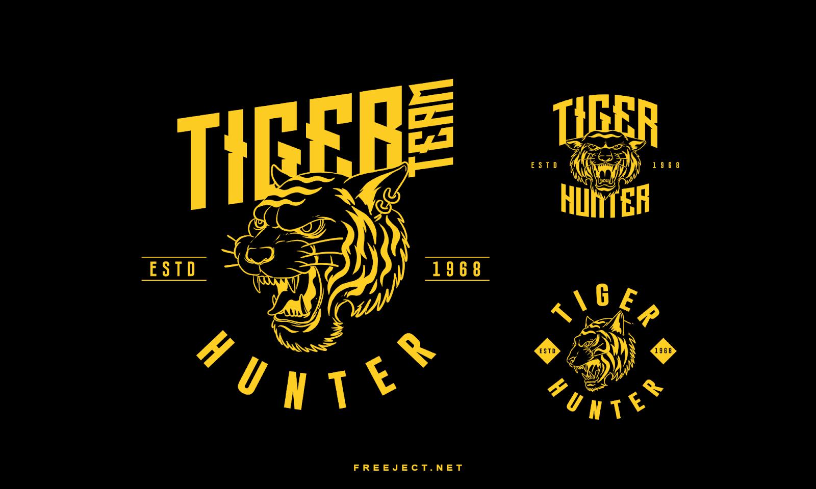Free Download Tiger Badge Logo Photoshop Template Vol 1 Psd File Badge Logo Photoshop Template Free Badges