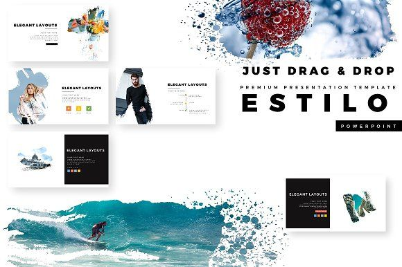 ESTILO Premium PowerPoint Template creative, modern, clean - professional power point template