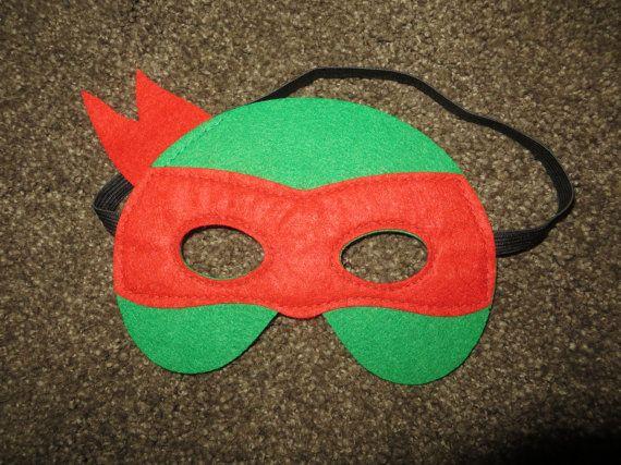 Teenage Mutant Ninja Turtle Masks Comfortable To Wear Made Out Of Soft Felt S Mascara De Tortuga Ninja Manualidades De Las Tortugas Ninja Disfraz De Tortuga
