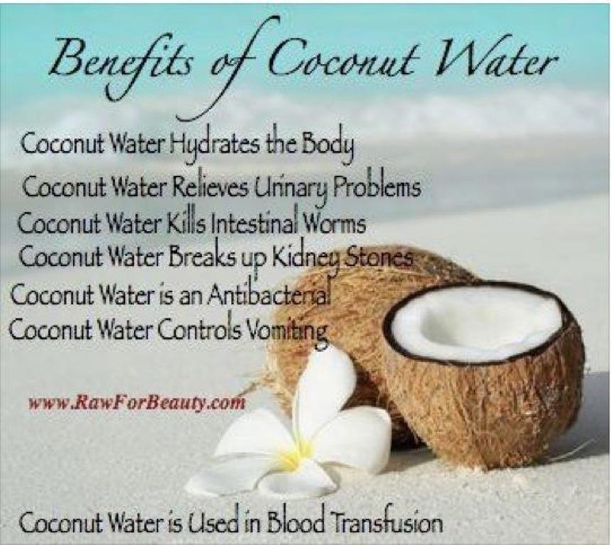 Benefits of Coconut water.