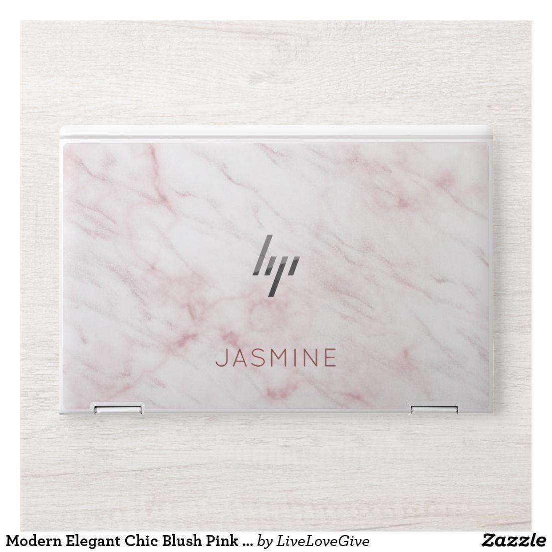 Modern Elegant Chic Blush Pink Marble Hp Laptop Skin Zazzle Com Hp Laptop Skin Hp Laptop Laptop Skin